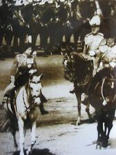 Photo presse vintage 1963 Queen Elisabeth défilé équestre Royaume-Uni