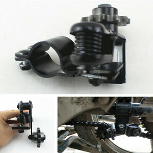 Black Motorcycle Bike Chain Tensioner Anti-skid Chain Guide Adjuster Circular