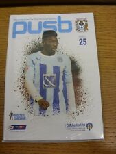 11/04/2015 Coventry City v Colchester United  . Thanks for viewing this item, bu