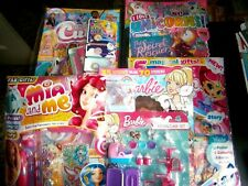 5 x Girls Assorted  Comics With Gifts (new) Set 25