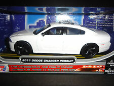 Motormax Dodge Charger Police Pursuit 2011 White Unmarked Police 76934 1/24