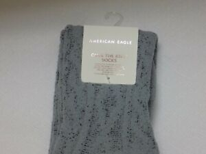 1 Pair of Women's American Eagle Over the Knee Grey / Gray Socks One Size NWT