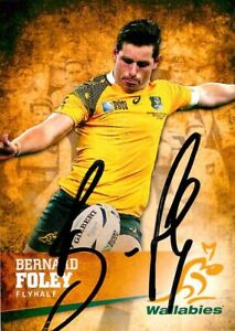 ✺Signed✺ 2016 WALLABIES Rugby Union Card BERNARD FOLEY