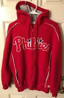 MLB Phildelphia Phillies Large Stitches Fleece Jacket