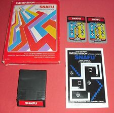 Intellivision Snafu [Complet FR] Jeu Mattel NO Atari 2600 7800 *JRF*