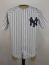Majestic New York Yankees Derek Jeter Stitched Jersey Mens Small White Pinstripe