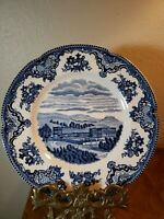 """Johnson Bros Old Britain Castles Blue Salad Plate Chatsworth Made in England 8"""""""