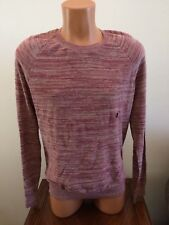 Abercrombie & Fitch Mens M Medium Space Dye Pullover Sweater Cotton Blend Red