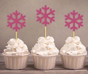 Darling Souvenir| Christmas Celebration Snowflake Cupcake Toppers|-Jgh