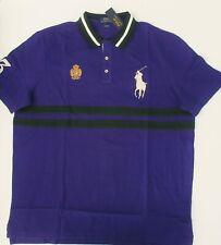 Nwt Ralph Lauren Ss Classico Fit Grande Pony Crest Viola Rete Polo Maglia XL New