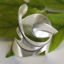 Leaf Ring Karen Hilltribe 925 Sterling Silver Size Us=7/N Adjustable