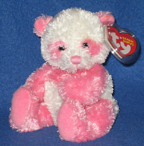 TY DAINTY the PINK PANDA BEANIE BABY - MINT with MINT TAGS