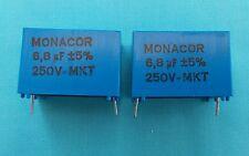 6.8uf MKT PCB FOIL CROSSOVER CAPACITORS x 2