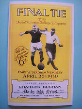 1930 FA Cup final programme,Ticket & free teamsheet Arsenal v Huddersfield Town.