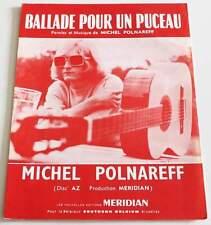 Partition vintage sheet music MICHEL POLNAREFF : Ballade Pour un Puceau * 60s
