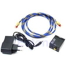 Numérique optique coaxial Toslink en RCA L/R Audio Converter+câble de prise d'UE