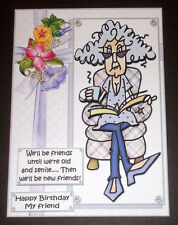 Handmade Greeting Card 3D Humorous Birthday Card For Friends With Stella