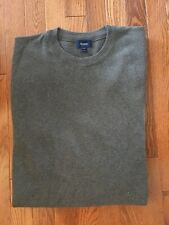Mens XL Faconnable Sweater Merino Wool Crewneck Sweater Gray Long Sleeve NWOT