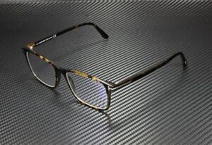 Tom Ford FT5584-B 052 Dark Havana Clear Lens Plastic 54 mm Men's Eyeglasses