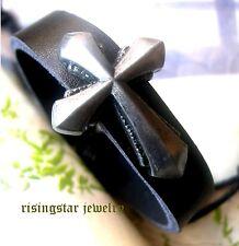 Men's Cross Theme Handmade New Age Fashion Surfer Leather Bracelet Wristband