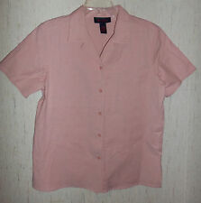 NEW!  WOMENS Denim & Co. PEACHY PINK BLOUSE   SIZE M