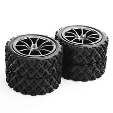 4 X RC 1:10 Rally Racing Off Road Car Tires Wheel Rim For HSP HPI PP0487+C12M