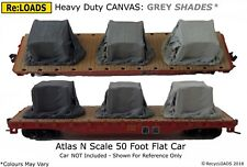 GREY Shades & Fades Tarped Covered Sheeted Model Road & Rail Load, N, TT, HO, OO