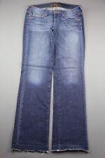 Women's Hippie Brand Jeans Boot Cut Raw Frayed Hem Medium Wash Size 29 (33x31)