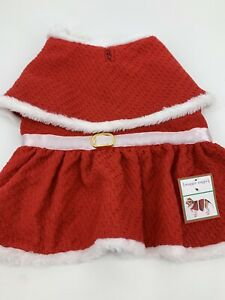 Maggie Waggie Dog Mrs Claus Christmas Clothes Outfit Red White Large NO HAT