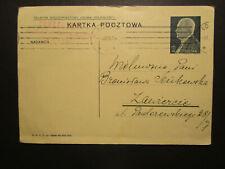 Kartka Pocztowa Postkarte Polen 1938