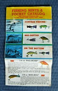 Vintage Fred Arbogast Fishing Hints & Pocket Catalog ~ Nice Collectible!