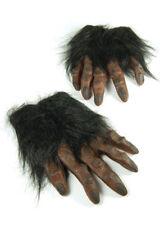 Brown Hairy Hands Werewolf Gloves