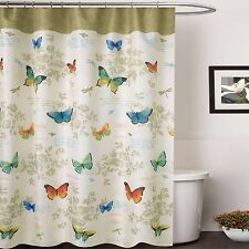 70 in x 72 in waterproof printed Canvas Fabric Shower Curtain Butterfly Design