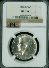 1970-D KENNEDY SILVER HALF DOLLAR NGC MS65 * PL RARE MAC SPOTLESS *