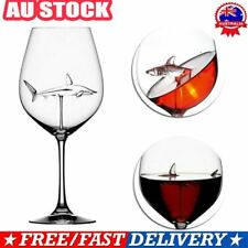 Shark Glass Metal Red Wine Glass Goblet Whiskey Cup Special Gift D7
