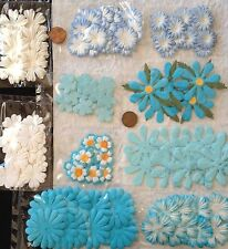 135 Flowers Lot assortment Blue Turquoise Aqua Petals Handmade Mulberry Paper 6