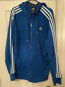 Adidas Performance Essentials Blue hoodie size Medium