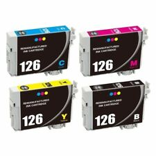 Super 126 Black/Color Inks for Epson Stylus NX430 WF-630 633 635 645 845 Printer