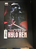 STAR WARS RISE KYLO REN #1 2nd PRINT MARVEL Signed by Clayton Crain at C2E2 RED