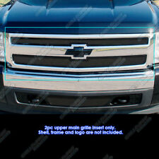 Fits 2007-2013 Chevy Silverado 1500 Black Mesh Grille Grill Insert