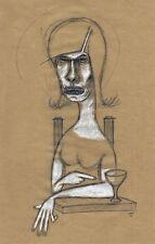 Dessin original sur papier technique mixte - signé - Artiste  FLAVIEN COUCHE