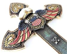 US Coast Guard Angel Wings Cross 14x 8 1/2 Inches Polyresin New