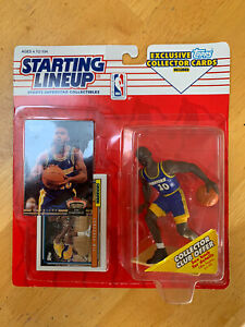 TIM HARDAWAY 1993 STARTING LINEUP ACTION FIGURE WITH TOPPS COLLECTOR CARDS