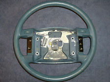OEM Lincoln Blue Leather Wrapped 4-Spoke Steering Wheel w / Cruise Control