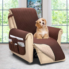 Recliner Chair Cover with side pockets Sofa Couch Covers Slipcover for Dogs Larg