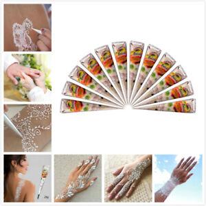 Fresh White Henna Paste Indian Temporary Tattoo Paste Cone Body Art Bridal Party