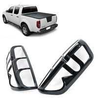 Glossy Black Tail Light Cover Trim Fit Nissan Navara Frontier D40 2005 - 12 Pair
