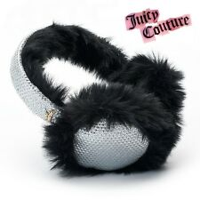 NWT Juicy Couture Women's Faux-Fur Sequined Cozy Hat Ear Muffs Ski Winter Warm -