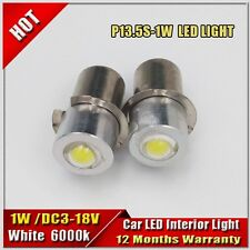 2x P13.5S DC3-18V 1W led Flashlight Replacement bulb Torches Lantern Work Light