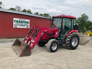 2011 Mahindra 5010 4x4 Hydro 50Hp Compact Tractor w/ Cab & Loader 1400Hrs!!